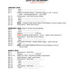 Sweetwater Calendar 2020